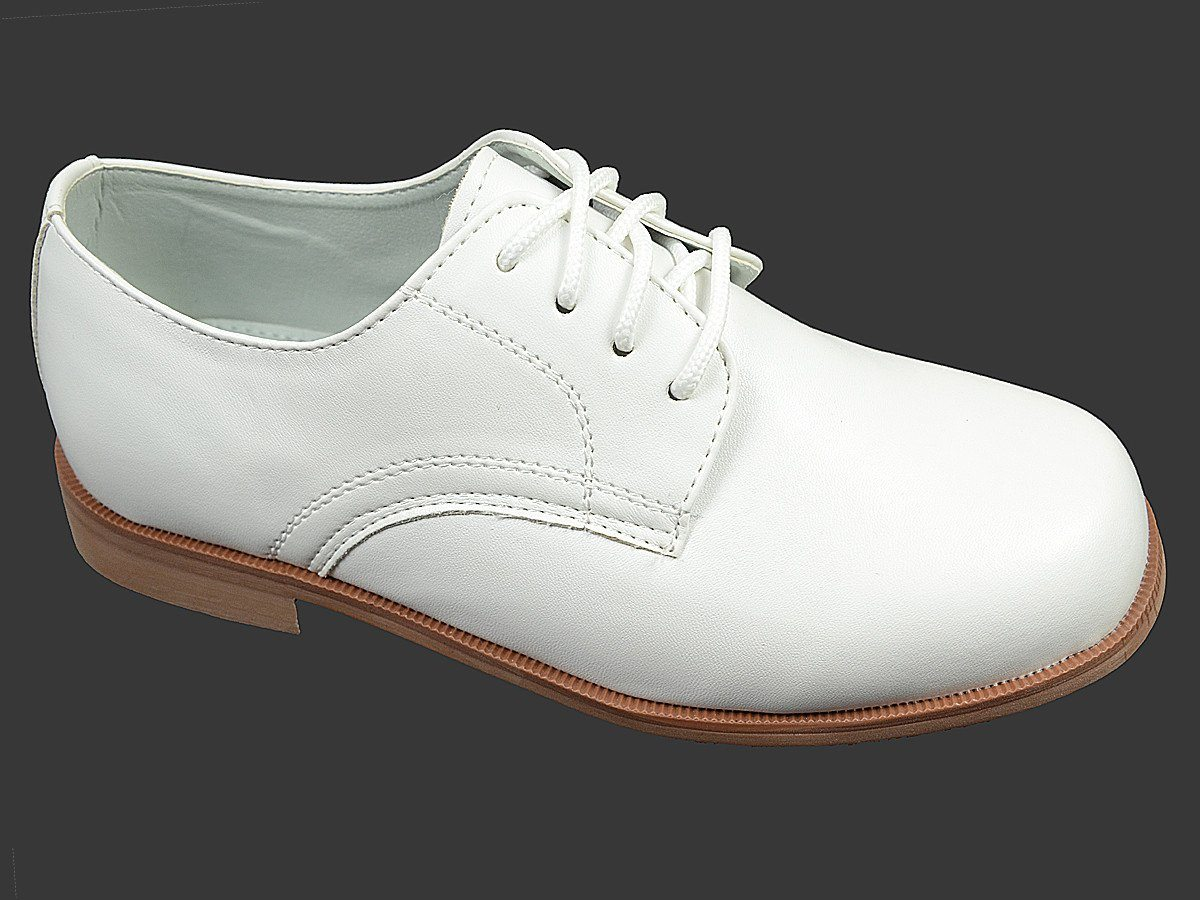 Josmo 18648 Man-Made Boy's Shoe - Oxford - White