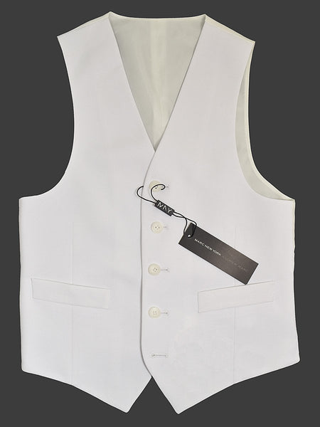 Andrew Marc 18743V 65% Polyester / 35% Rayon Boy's Vest Separate - Solid - White, 5-Button