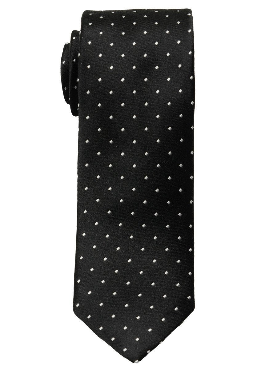 Heritage House 18801 100% Woven Silk Boy's Tie - Neat - Black//White Boys Tie Heritage House