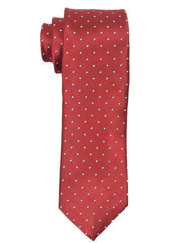 Heritage House 18809 100% Woven Silk Boy's Tie - Neat - Burgundy/White Boys Tie Heritage House