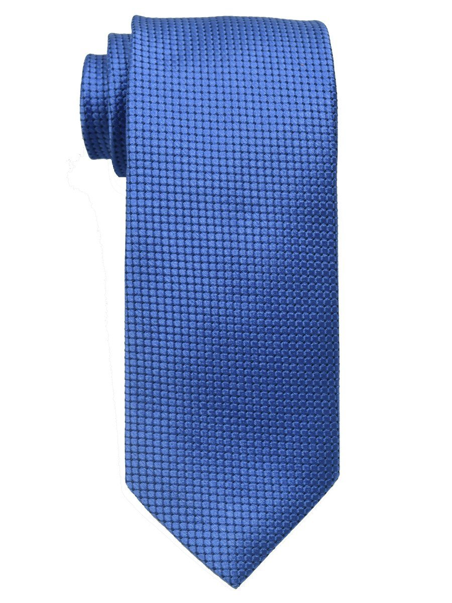 Heritage House 18817 100% Woven Silk Boy's Tie - Solid Neat - Blue Boys Tie Heritage House