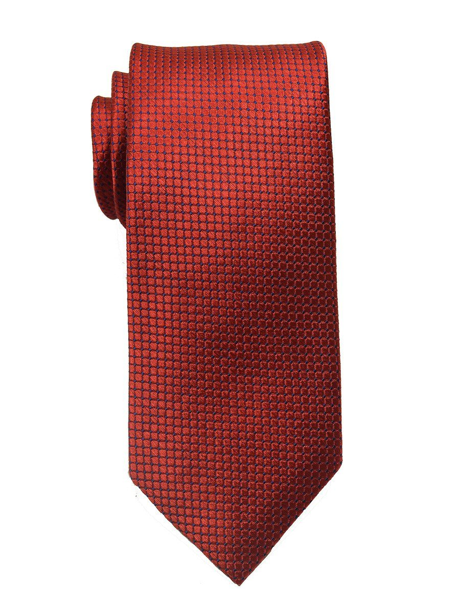 Heritage House 18821 100% Woven Silk Boy's Tie - Neat - Red Boys Tie Heritage House