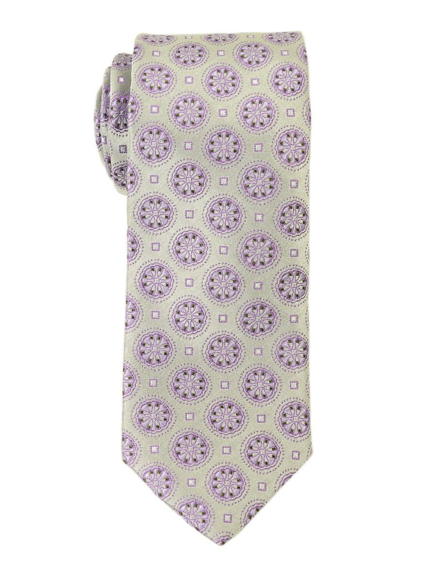 Heritage House 18829 100% Woven Silk Boy's Tie - Neat - Silver/Pink Boys Tie Heritage House