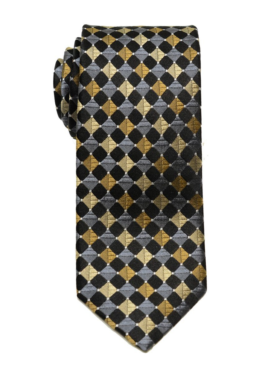 Boy's Tie 18859 Black/Grey/Khaki