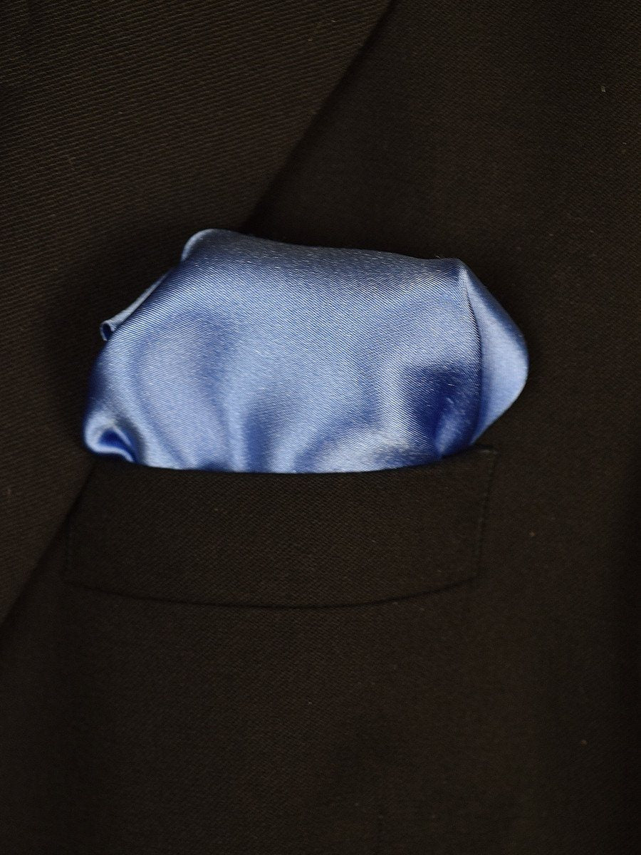 Boy's Pocket Square 18939 Blue Solid