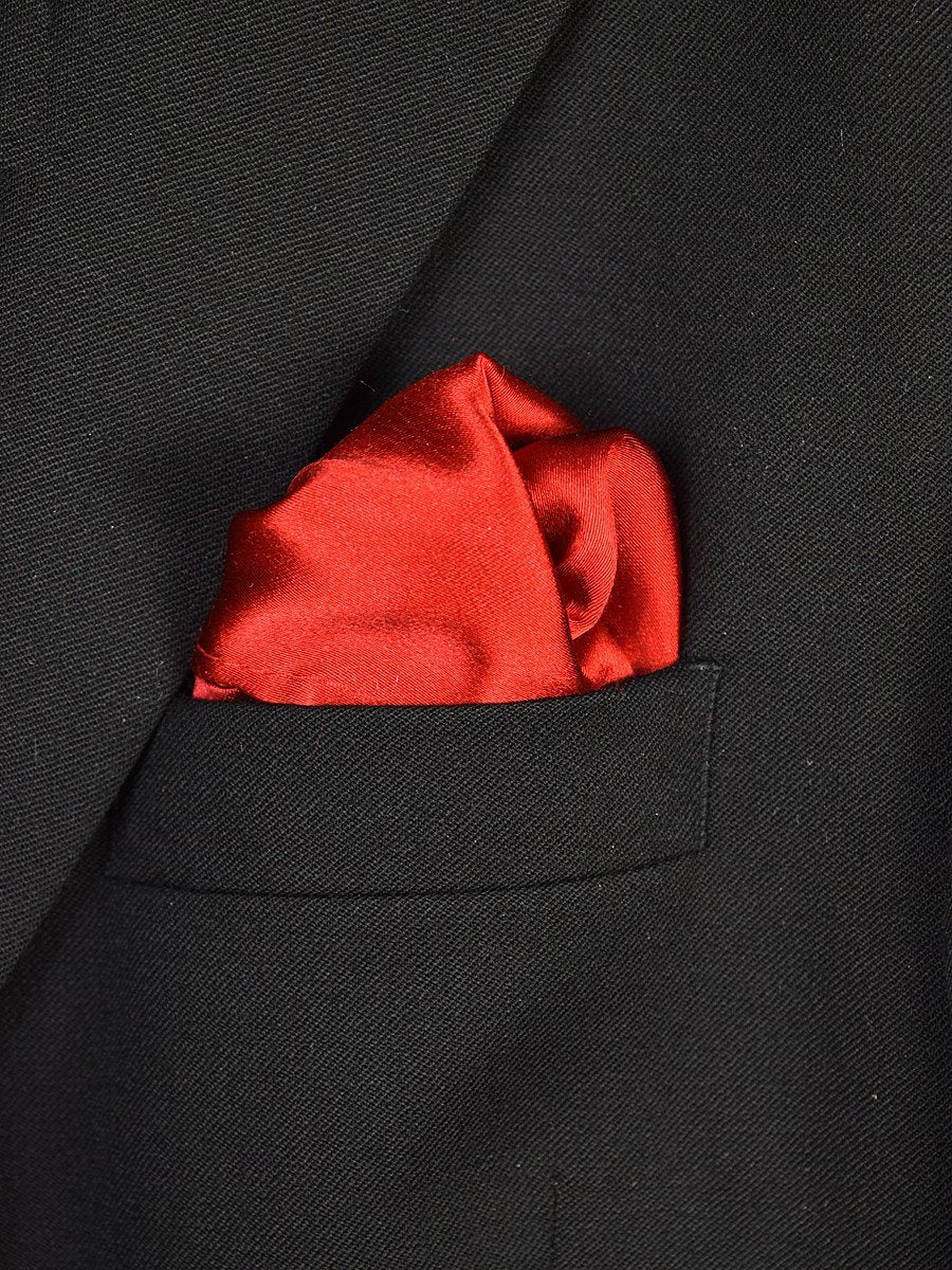 Boy's Pocket Square 18940 Red Solid
