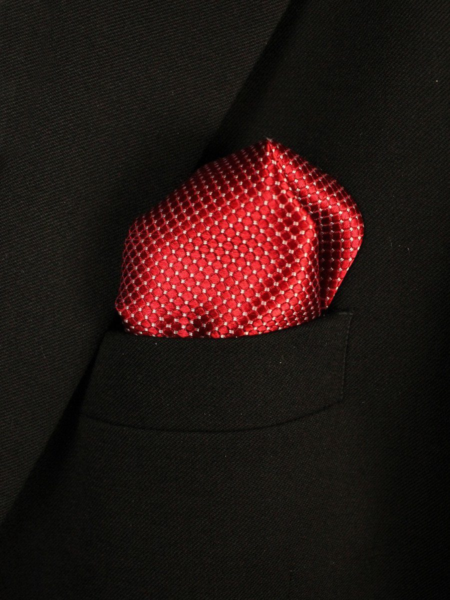 Boy's Pocket Square 18943 Red Neat
