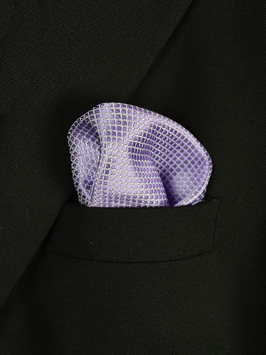 Boy's Pocket Square 18944 Lilac Neat