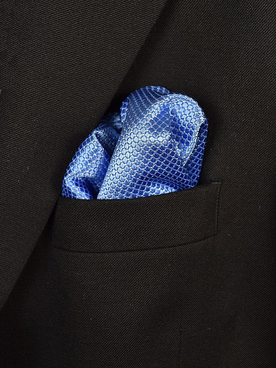 Boy's Pocket Square 18945 Blue Neat
