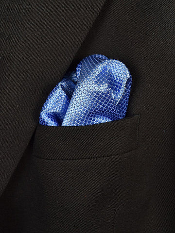 Boy's Pocket Square 18945 Blue Neat Boys Pocket Square Heritage House