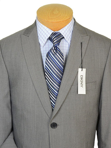 DKNY 19074 100% Wool Boy's 2-Piece Suit - Sharkskin - 2-Button Single Breasted Jacket, Plain Front Pant Boys Suit DKNY