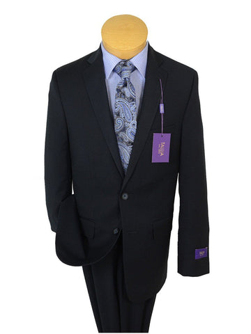 Image of Tallia Purple 19092 65% Polyester / 35% Rayon Boy's 2-Piece Suit - Navy Solid - 2-Button Single Breasted Jacket, Plain Front Pant Boys Suit Tallia