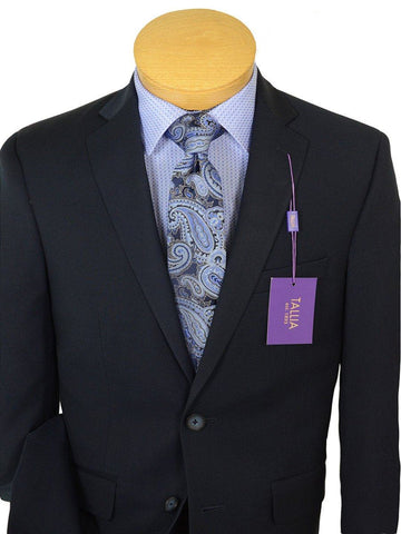 Tallia Purple 19092 65% Polyester / 35% Rayon Boy's 2-Piece Suit - Navy Solid - 2-Button Single Breasted Jacket, Plain Front Pant