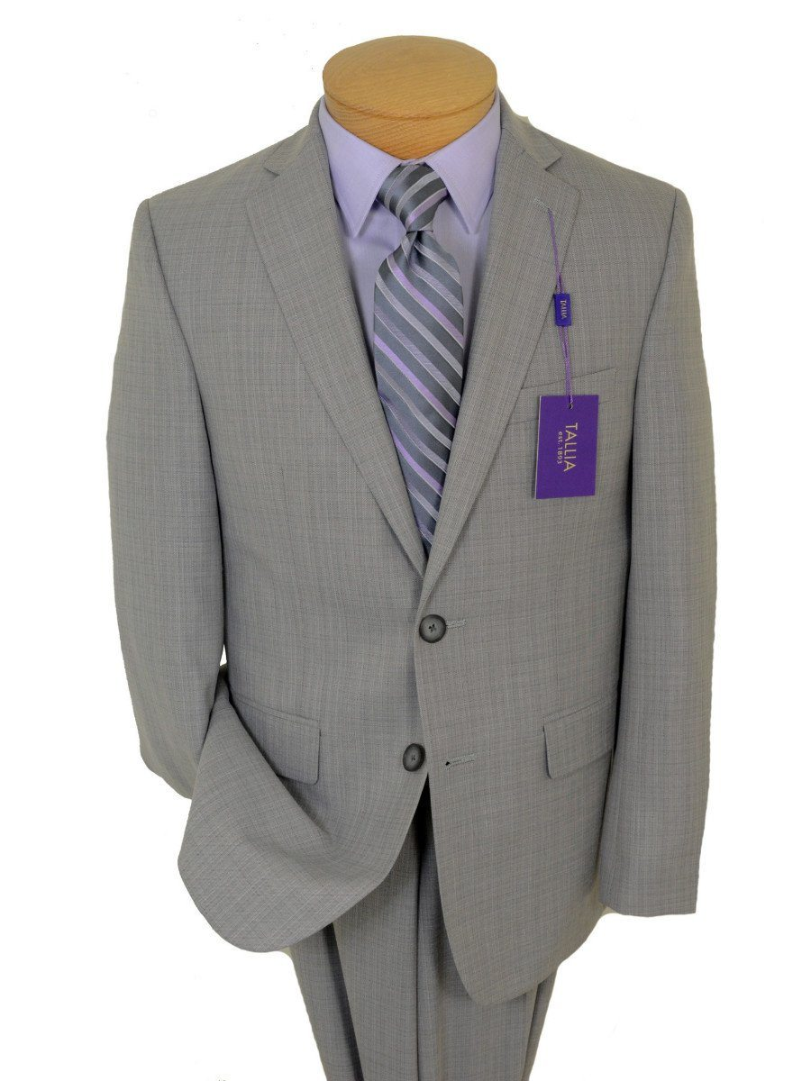 Tallia Purple 19118 80% Polyester / 20% Rayon Boy's 2-Piece Suit - Sharkskin - 2-Button Single Breasted Jacket, Plain Front Pant Boys Suit Tallia