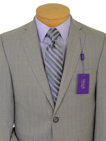 Image of Tallia Purple 19118 80% Polyester / 20% Rayon Boy's 2-Piece Suit - Sharkskin - 2-Button Single Breasted Jacket, Plain Front Pant Boys Suit Tallia