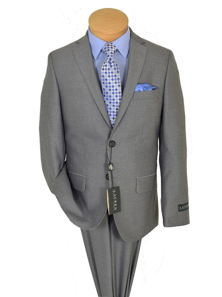 Lauren Ralph Lauren 19167 65% Polyester/ 35% Rayon Boy's Suit Separate Jacket - Weave - Light Grey, 2-Button Single Breasted