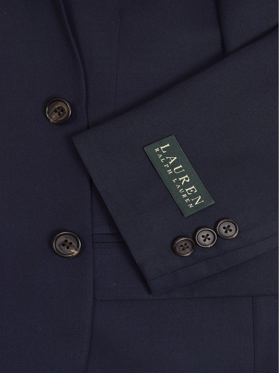 Lauren Ralph Lauren 19174 65% Polyester/ 35% Rayon Boy's Suit Separate Jacket - Solid - Navy, 2-Button Single Breasted Boys Suit Separate Jacket Lauren