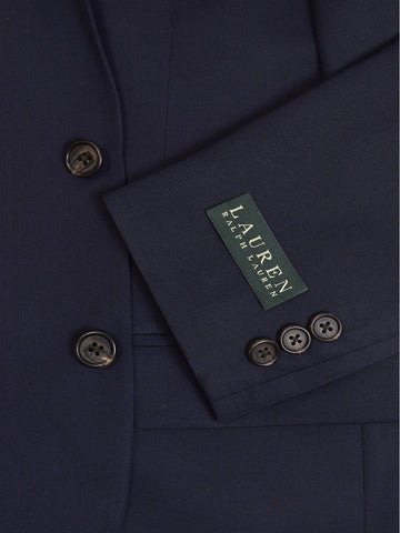 Image of Lauren Ralph Lauren 19174 65% Polyester/ 35% Rayon Boy's Suit Separate Jacket - Solid - Navy, 2-Button Single Breasted Boys Suit Separate Jacket Lauren