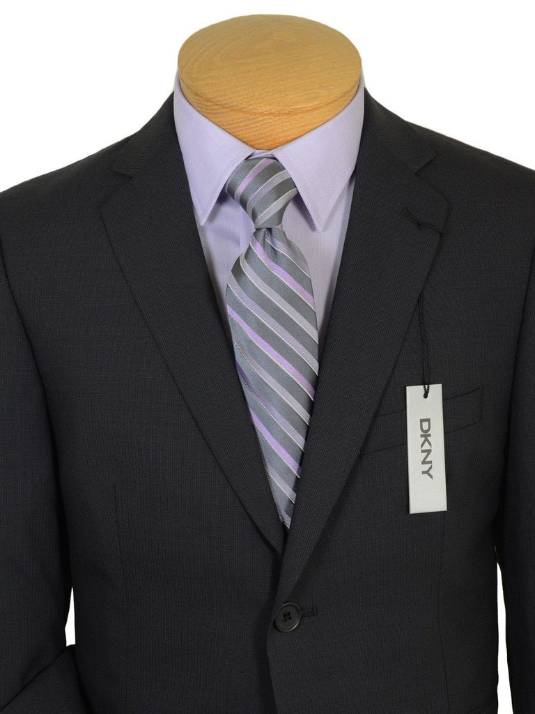 DKNY 19213 100% Wool Boy's 2-Piece Suit - Weave - 2-Button Single Breasted Jacket, Plain Front Pant Boys Suit DKNY