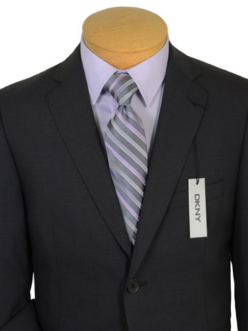 DKNY 19213 100% Wool Boy's 2-Piece Suit - Weave - 2-Button Single Breasted Jacket, Plain Front Pant