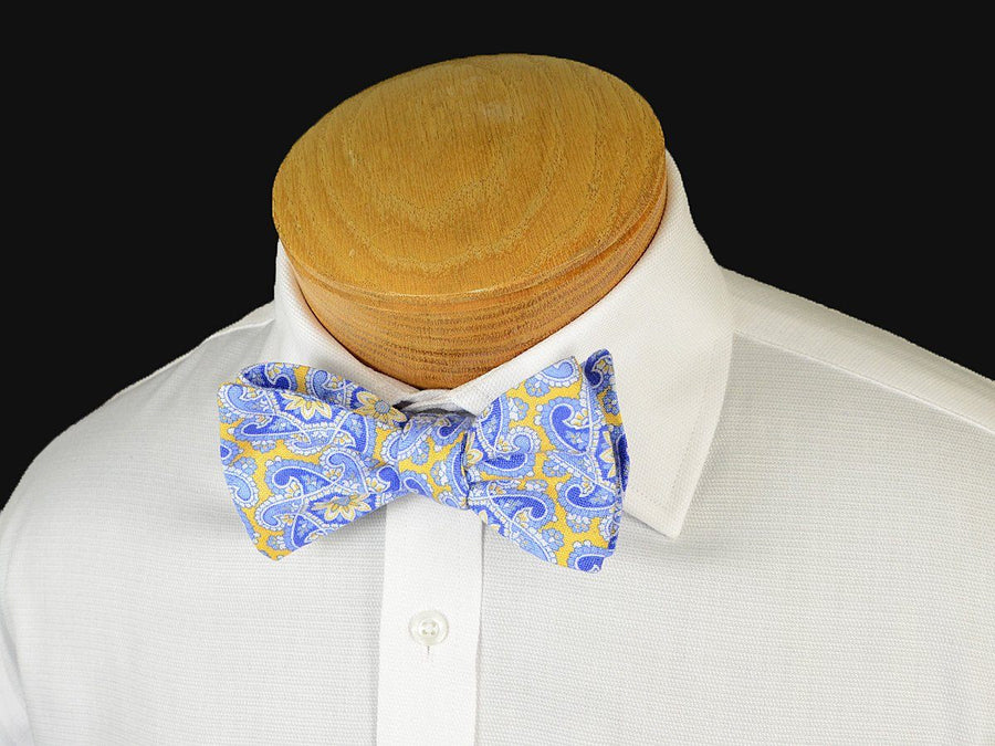 Boy's Bow Tie 19245 Yellow/Blue Paisley Boys Bow Tie High Cotton