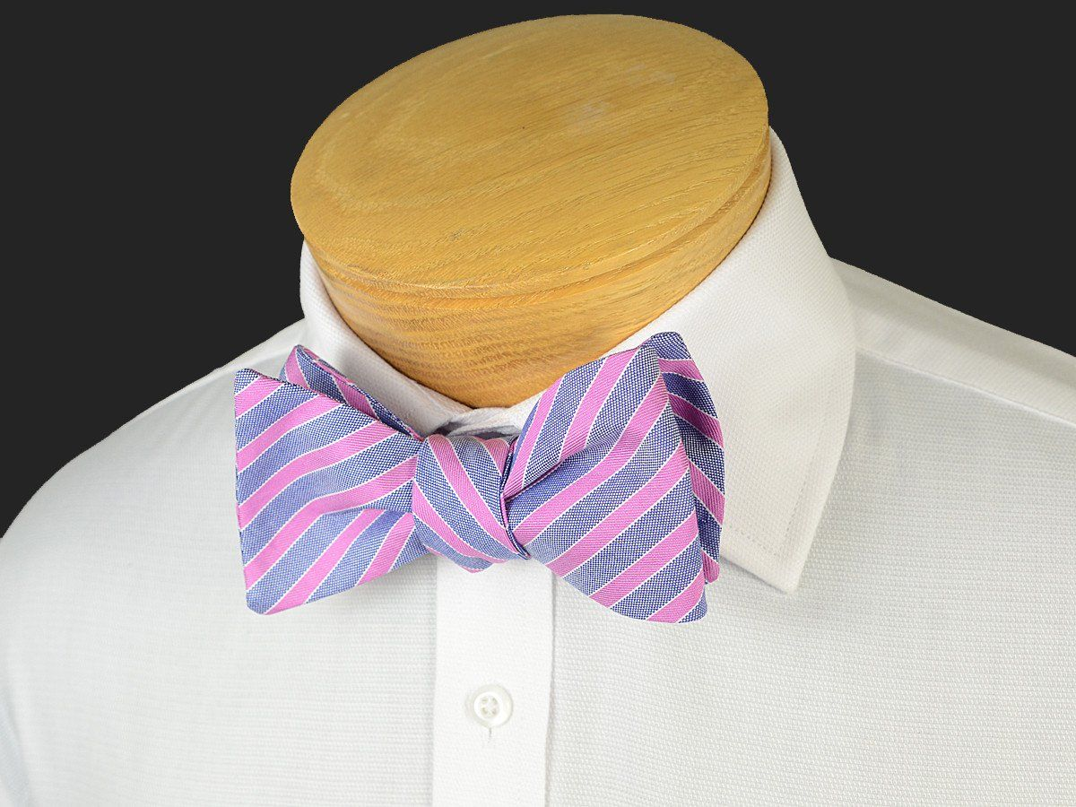 Boy's Bow Tie 19246 Violet/Navy Stripe