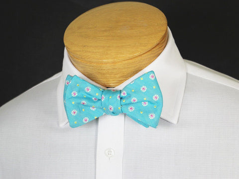 Boy's Bow Tie 19247 Teal/Pink/Yellow Neat Boys Bow Tie High Cotton