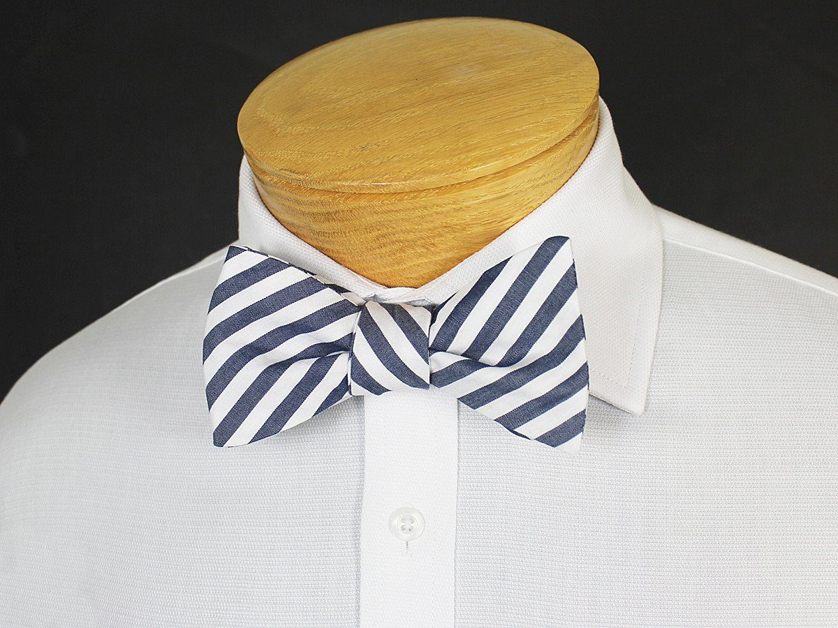 Boy's Bow Tie 19249 Navy/White Stripe