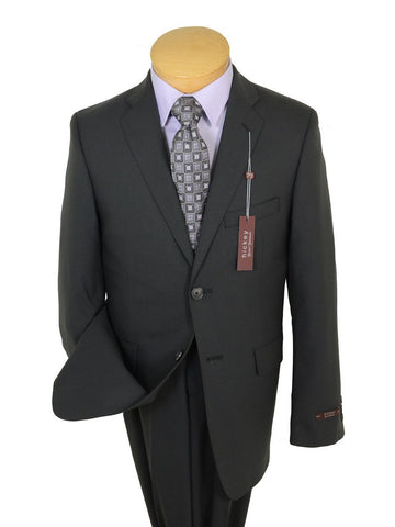 Hickey Freeman 19342 98% Wool / 2% Elastane Boy's 2-Piece Suit - Solid Gray- 2-Button Single Breasted Jacket, Plain Front Pant Boys Suit Hickey