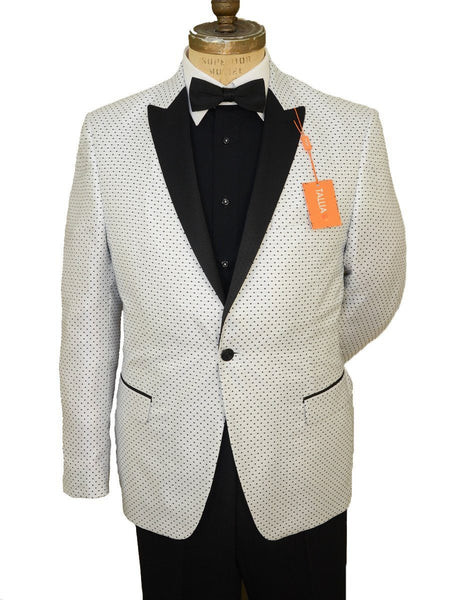 Young Men's Sport Coat 19382 White Dot