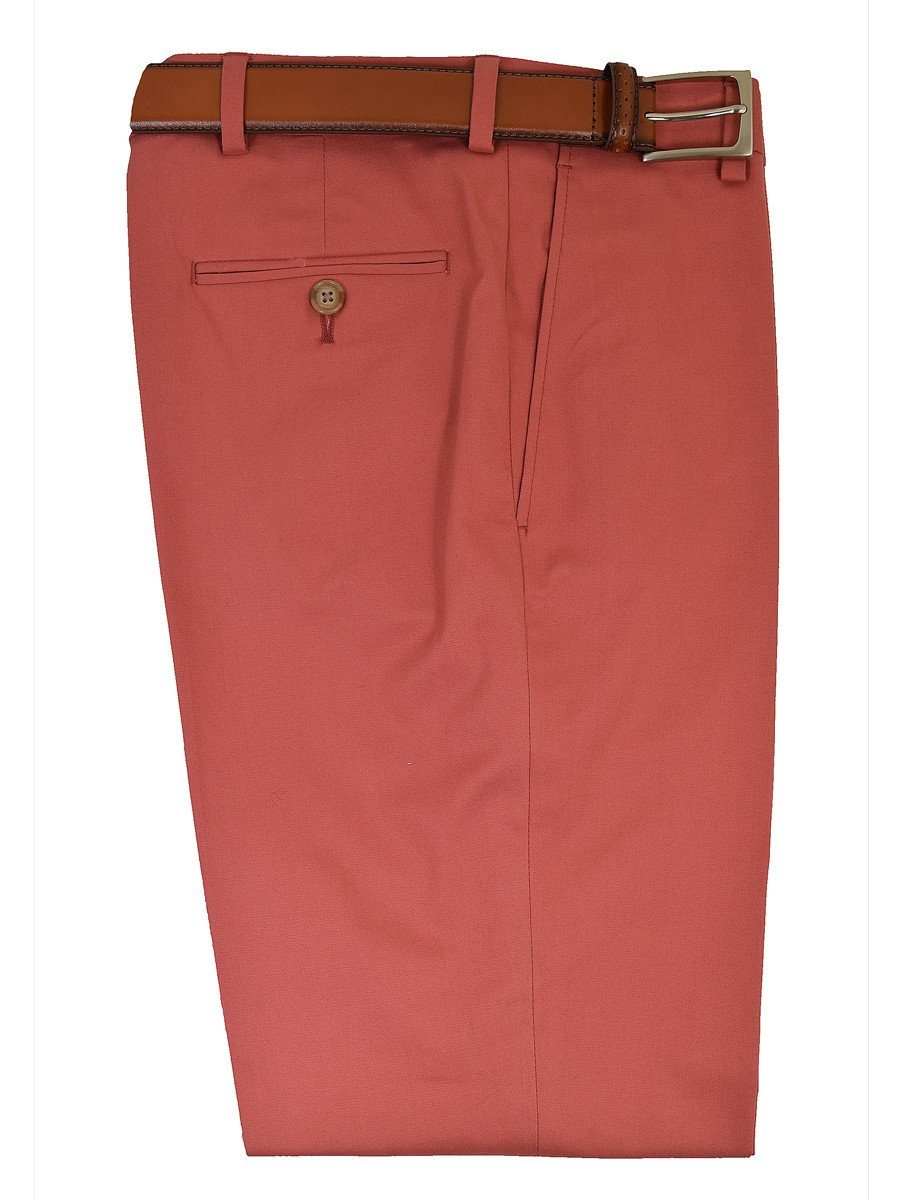 Michael Kors 19458 97% Cotton / 3% Spandex Boy's Pant - Cotton Poplin - Red, Plain Front Boys Casual Pant Michael Kors
