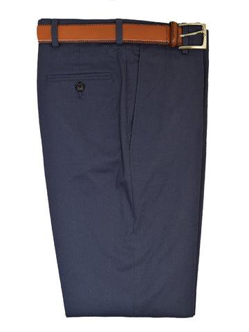 Michael Kors 19465 97% Cotton / 3% Spandex Boy's Pant - Cotton Poplin - Blue, Plain Front Boys Casual Pant Michael Kors