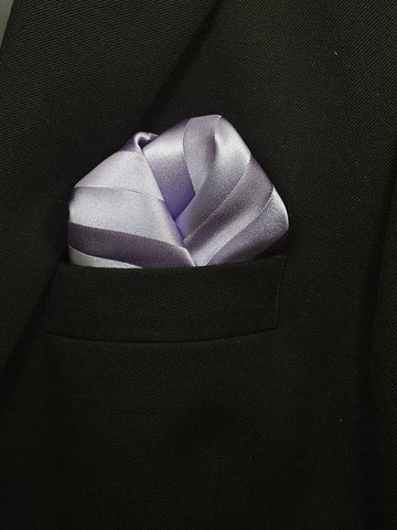 Boy's Pocket Square 19471 Lilac Tonal Stripe Boys Pocket Square Heritage House