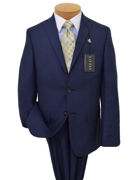 Lauren Ralph Lauren 19513 65% Polyester/ 35% Rayon Boy's Suit Separate Jacket - Plaid - Blue,  2-Button Single Breasted