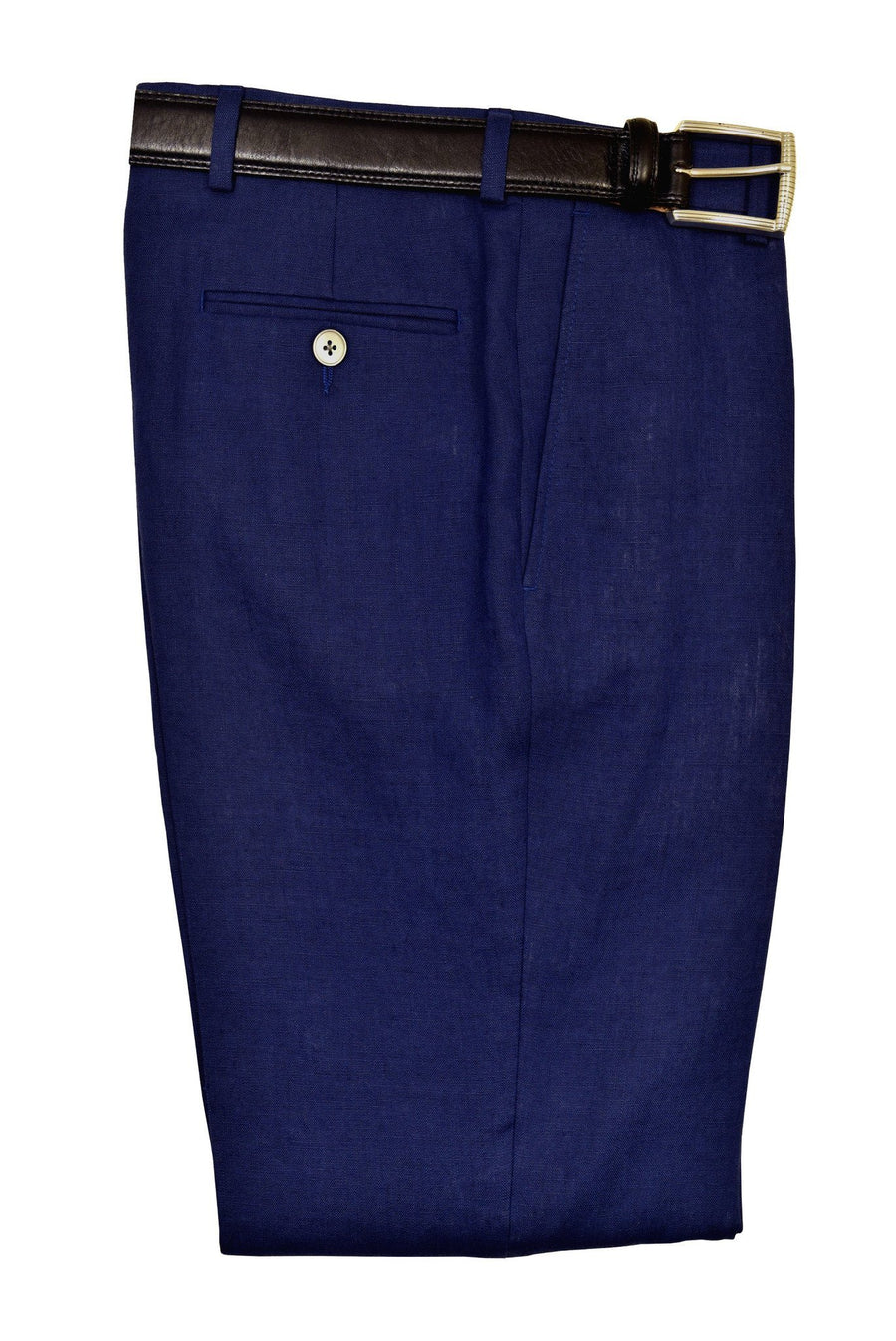 Lauren Ralph Lauren 19520P 100% Linen Boy's Suit Separate Pant - Linen - Blue, Plain Front Boys Suit Separate Pant Lauren