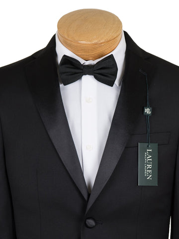 Lauren Ralph Lauren 19588 80% Polyester/ 20% Rayon Boy's 2-Piece Suit - Tuxedo - 2-Button Single Breasted Jacket, Plain Front Pant From Boys Tuxedo Lauren