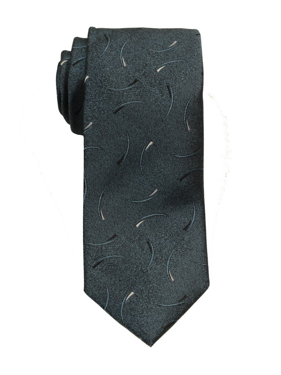 Heritage House 19745 100% Woven Silk Boy's Tie - Neat - Grey/Blue