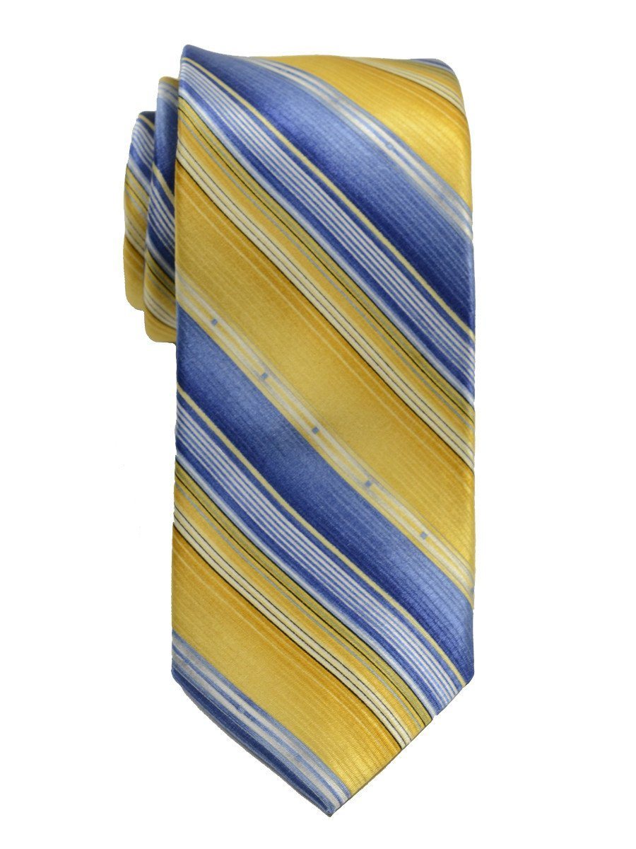 Heritage House 19787 100% Woven Silk Boy's Tie - Stripe - Yellow/Blue Boys Tie Heritage House