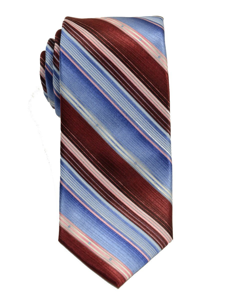 Heritage House 19793 100% Woven Silk Boy's Tie - Stripe - Red/Blue