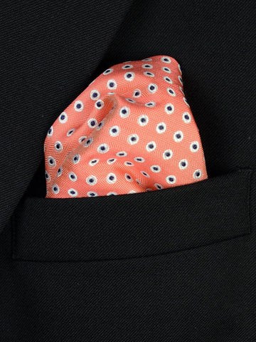 Boy's Pocket Square 19805PS Peach/Navy Boys Pocket Square Heritage House