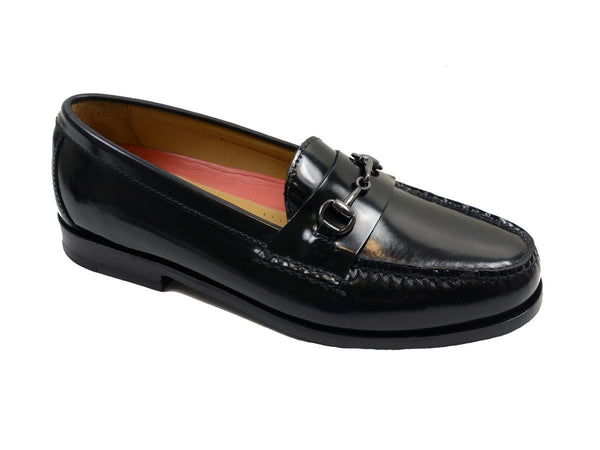 Cole Haan 19827 100% Leather Boy's Shoe - Penny Bit Loafer - Black