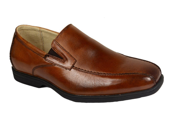Florsheim 20132 Leather Upper Boy's Dress Shoes - Slip-On - Cognac, Leather Lining