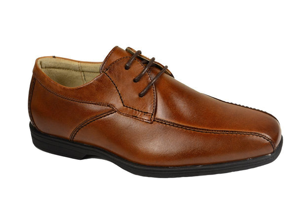 Florsheim 20145 Leather Upper Boy's Dress Shoes - Oxford - Cognac, Leather Lining