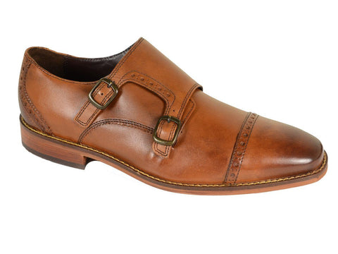 Florsheim 20204 Leather Boy's Shoe - Double Monk Strap - Saddle Tan Boys Shoes Florsheim