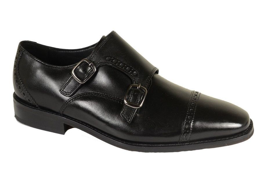 Florsheim 20212 Leather Boy's Shoe - Double Monk Strap - Black Boys Shoes Florsheim
