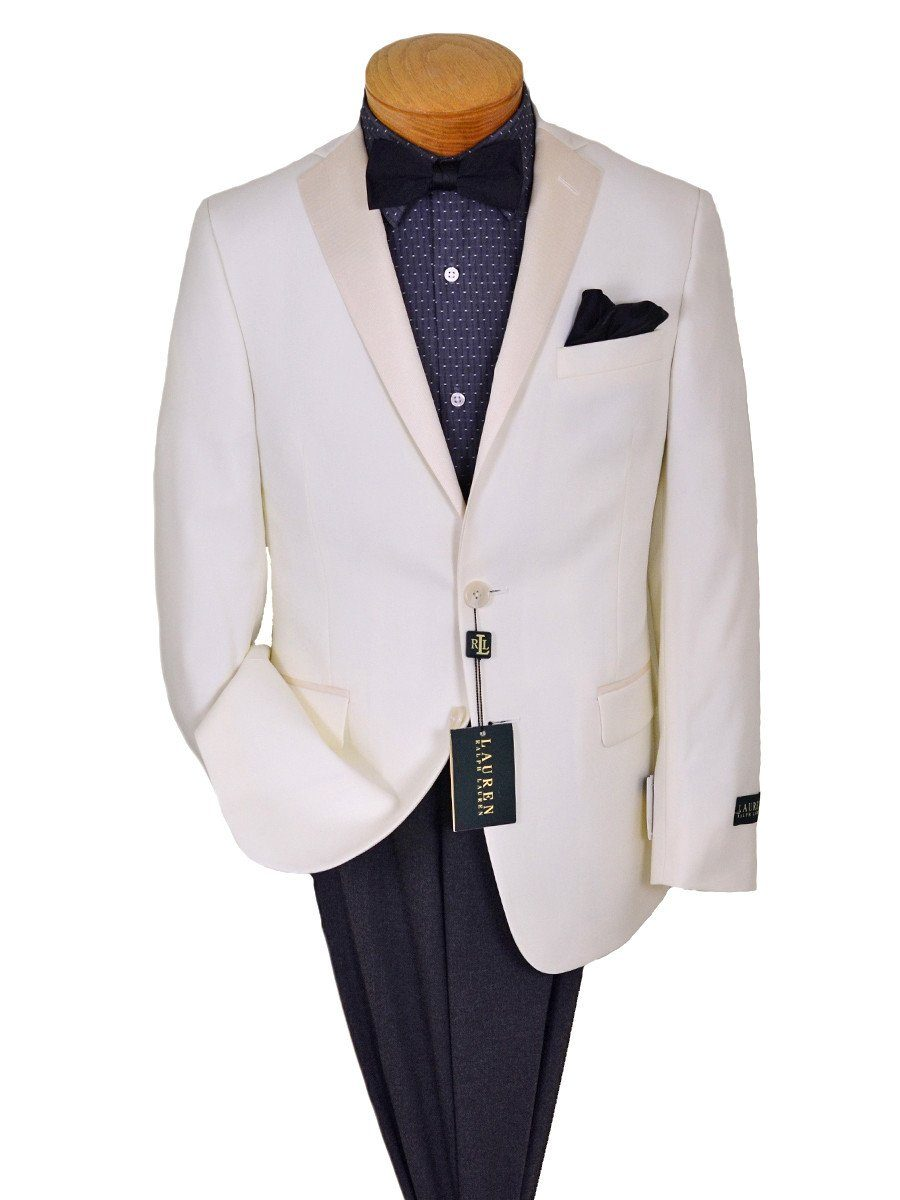 Lauren Ralph Lauren 20222 80% Polyester / 20% Rayon Boy's Sport Coat/ Dinner Jacket - Solid Gabardine - Cream, 2-Button Single Breasted