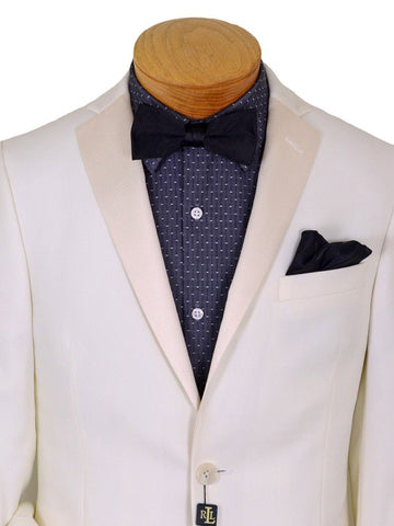 Image of Lauren Ralph Lauren 20222 80% Polyester / 20% Rayon Boy's Sport Coat/ Dinner Jacket - Solid Gabardine - Cream, 2-Button Single Breasted Boys Sportcoat Lauren