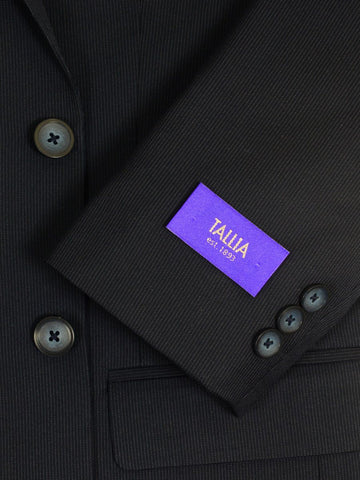 Image of Tallia Purple 20257 71% Polyester / 29% Rayon Boy's 2-Piece Suit - Stripe - Navy, 2-Button Single Breasted Jacket, Plain Front Pant Boys Suit Tallia