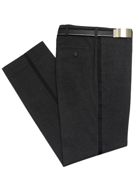 Lauren Ralph Lauren 20281 69% Polyester/ 20% Rayon / 2% Elastane Boy's Boy's Dress Pant/Tuxedo Pant - Heather - Charcoal, Plain Front