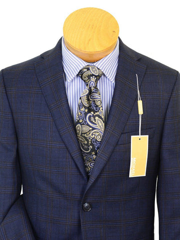 Image of Michael Kors 20527 100% Wool Boy's Sport Coat - Plaid - Navy / Multi, 2-Button Single Breasted Boys Sport Coat Michael Kors